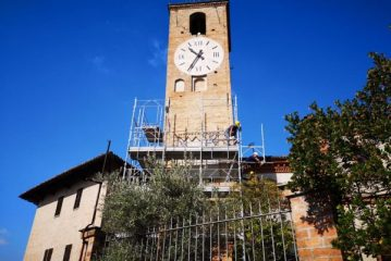 Neive: iniziati i lavori alla torre dell'orologio