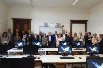 Nuova aula informatica alle Medie grazie a Banca di Cherasco e al Comune