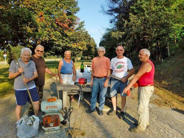 La strada per il santuario risistemata dai volontari ceresolesi