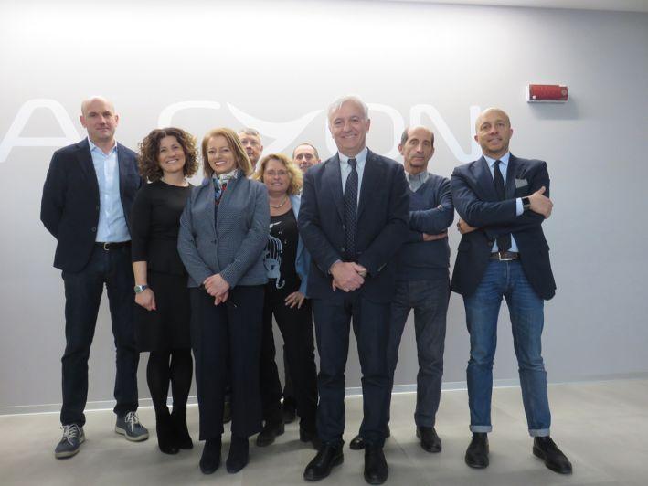 Amministrazione civica in visita alla sede di Alcyon Italia