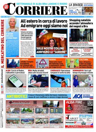 Le prima pagina del Corriere in edicola lunedi 9 dicembre