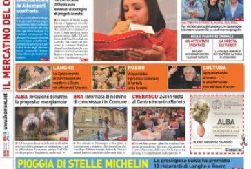 Le prima pagina del Corriere in edicola lunedi 11 novembre