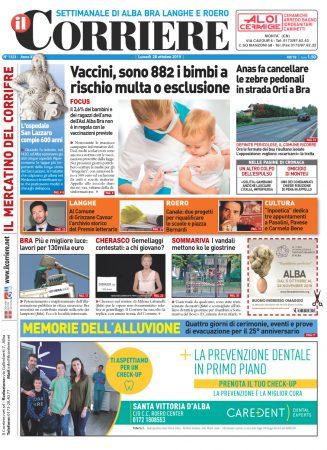 Le prima pagina del Corriere in edicola lunedi 28 ottobre