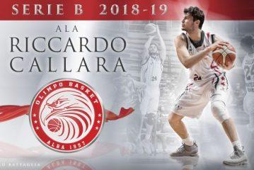 SERIE B – L'Olimpo Basket dà il benvenuto a Riccardo Callara!