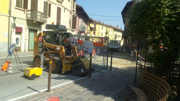 Sommariva B. disagi per i lavori in Via Vittorio Emanuele
