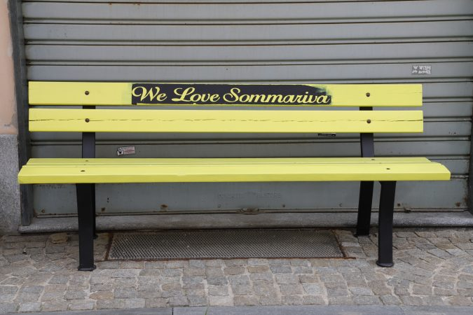 """La panchina """"I love Sommariva"""": inno d'amore per il paese"""