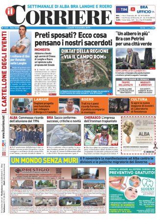 Le prima pagina del Corriere in edicola lunedi 4 novembre
