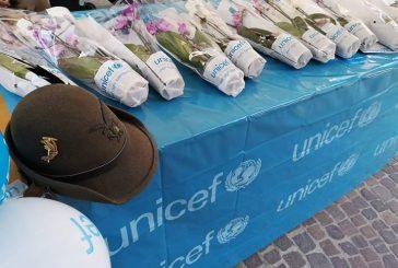 Orchidee Unicef vendute con successo dagli alpini a Bra