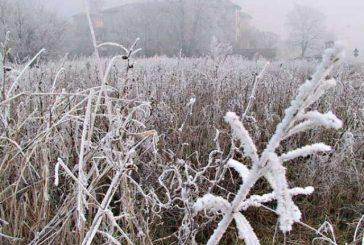Temperature sotto zero e primi geli in tutta la provincia