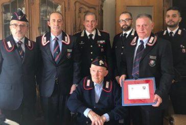 I Carabinieri festeggiano i 100 anni dell'Appuntato in congedo Valter Giaccone