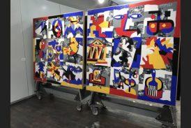 Grande successo della mostra di Ugo Nespolo in Banca d'Alba