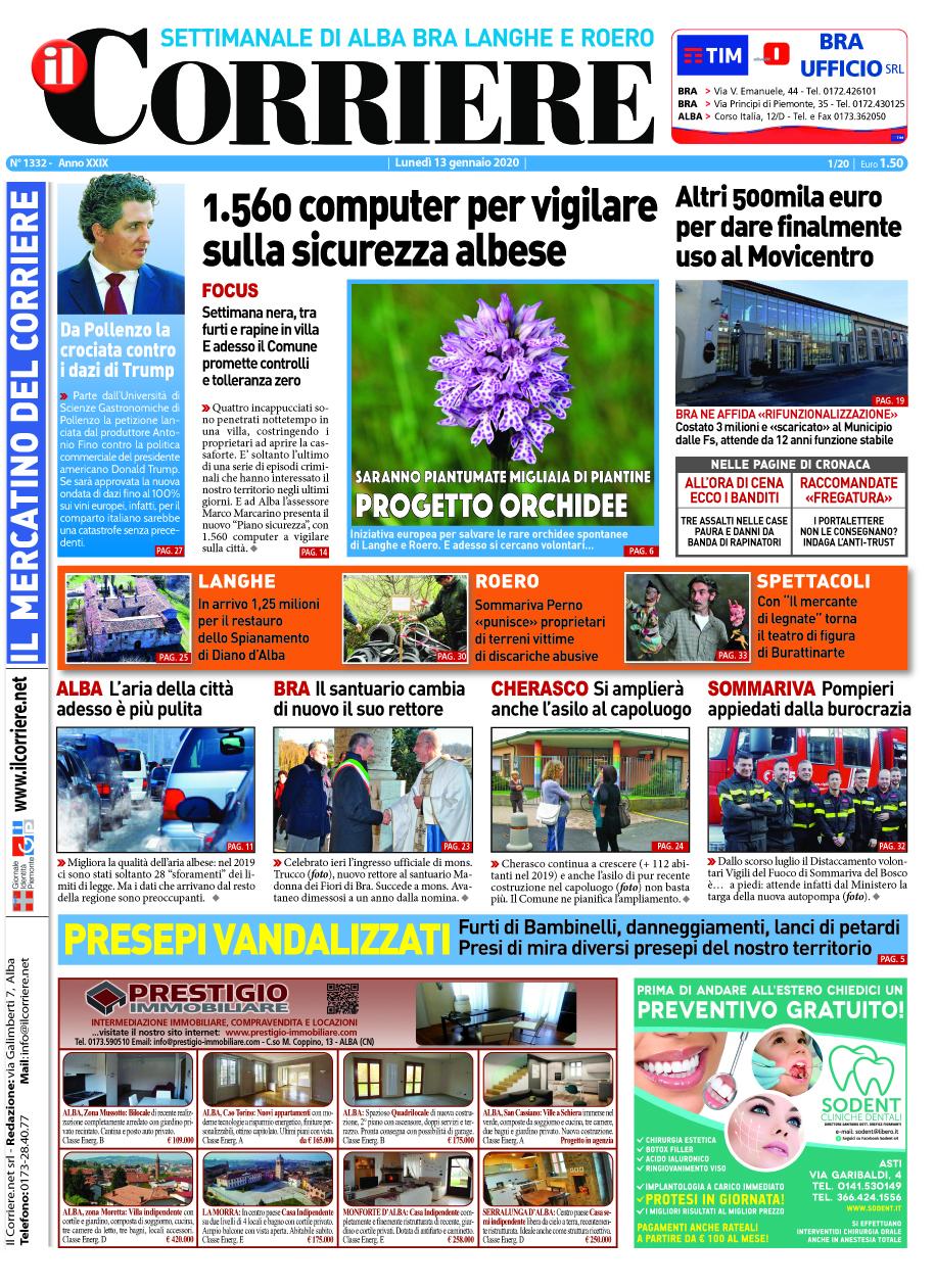 Le prima pagina del Corriere in edicola lunedi 13 dicembre