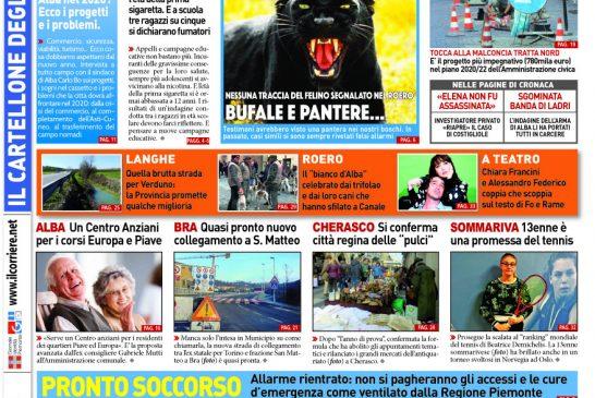 Le prima pagina del Corriere in edicola lunedi 20 gennaio