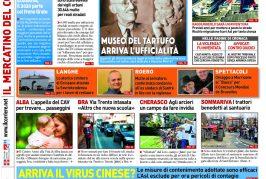 Le prima pagina del Corriere in edicola lunedi 27 gennaio