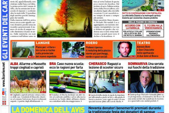 Le prima pagina del Corriere in edicola lunedi 17 febbraio