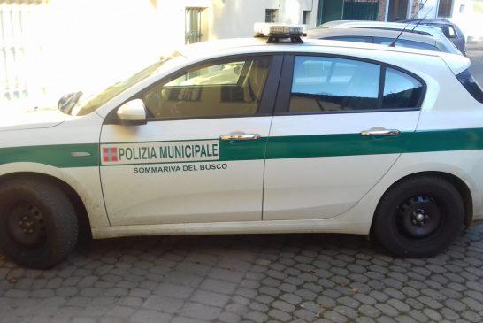 Sicurezza a Sommariva Bosco, intensificati i controlli da parte degli agenti della Polizia municipale