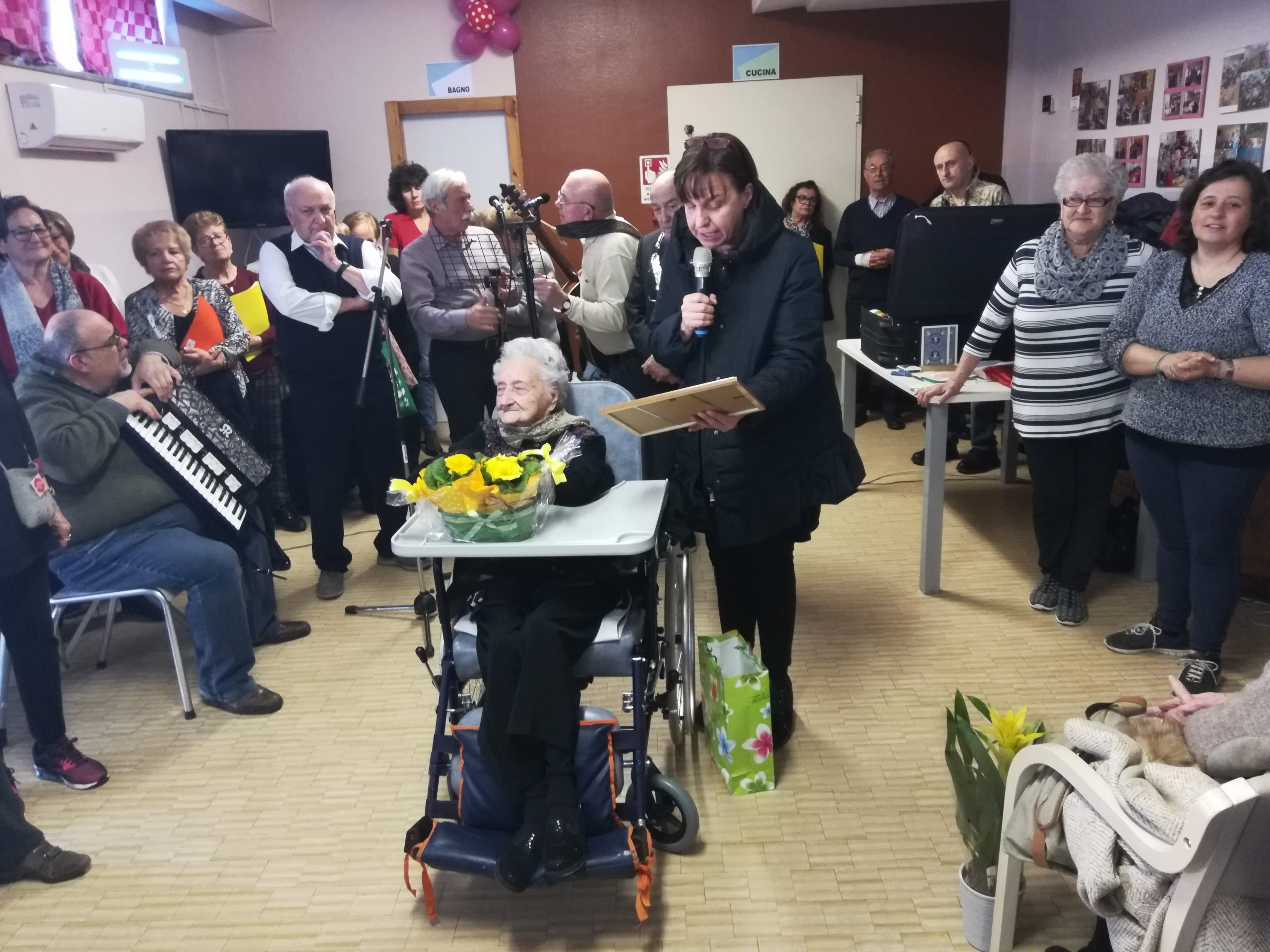 "Corneliano festeggia Andreina e i suoi 104 anni ""Sensa sagrin"""