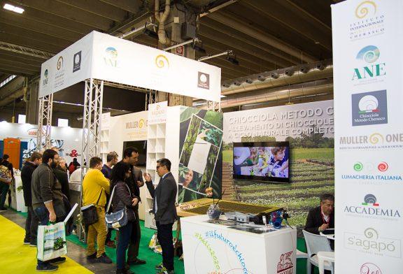 """Elicicoltura: l'economia elicoidale fa il """"boom"""" alla Fiera Agricola di Verona 1.200 visitatori allo stand"""