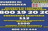 Coronavirus, la Regione Piemonte attiva il numero verde 800.19.20.20 per le chiamate sanitarie, i positivi al test rimangono tre