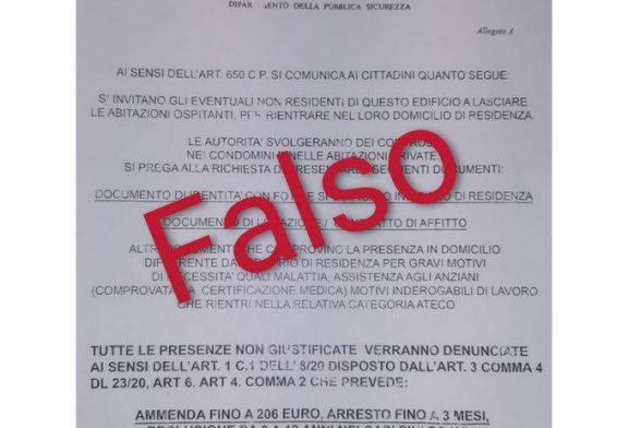 Falsi volantini del Ministero dell'Interno: attenzione, è una truffa