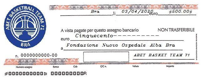 #stoppiamoilvirus: I disegni dei ragazzi del minibasket dell'Abet Bra raccolgono 500 euro per il Covid Hospital di Verduno