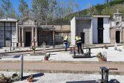 Anche a Diano d'Alba i volontari della Protezione civile al lavoro nei cimiteri del paese