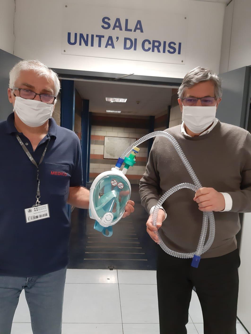 Coronavirus Piemonte: distribuite negli ospedali mille maschere Decathlon adattate per le terapie respiratorie