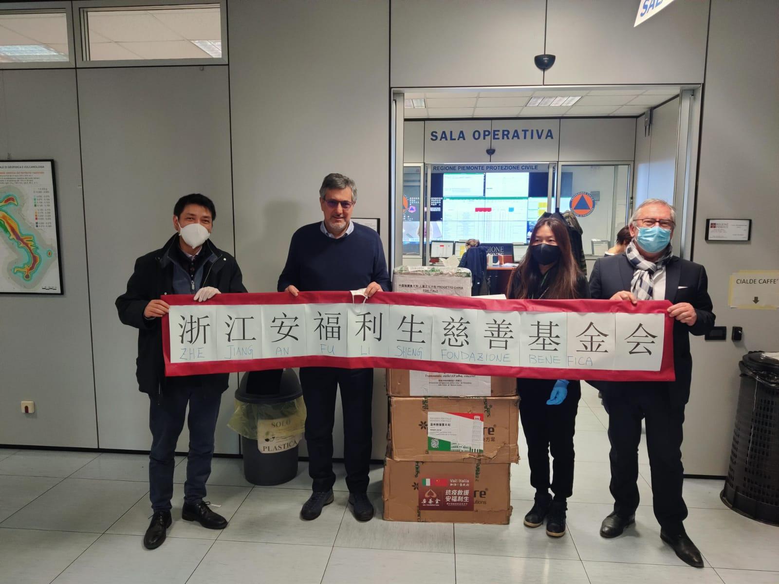 Coronavirus Piemonte: Dieci nuovi ventilatori polmonari dalla comunità cinese