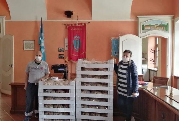 Maina: colombe per le famiglie bisognose di Corneliano