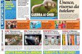 La prima pagina del Corriere in edicola lunedì 25 maggio