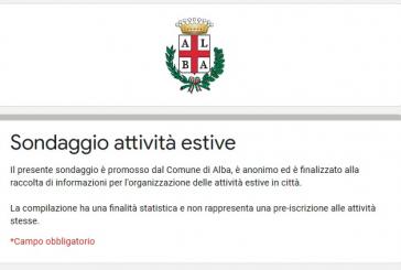 Alba: un sondaggio anonimo tra le famiglie da compilare entro il 5 giugno