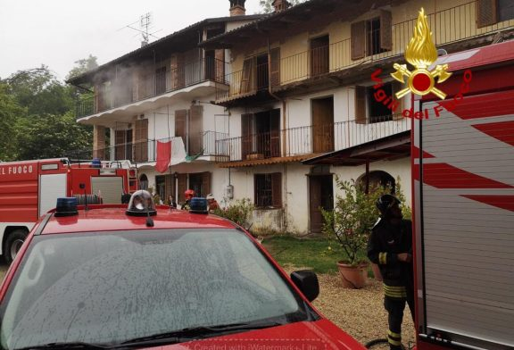 Canale: spento l'incendio divampato in una casa disabitata in frazione Madonna di Loreto