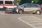 Ceresole d'Alba: incidente tra auto e moto: grave motociclista