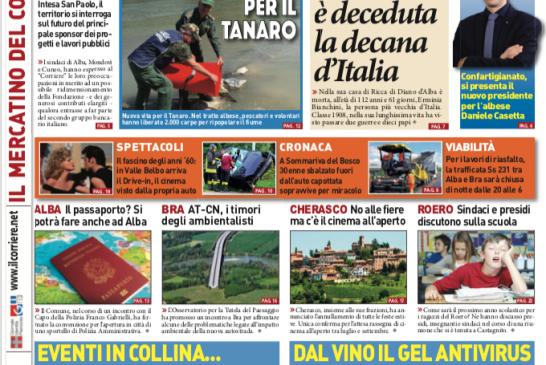 La prima pagina del Corriere in edicola lunedì 29 giugno